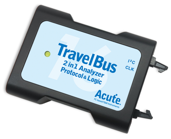 Acute: AE-TB1016E: TravelBus: 2 in 1 Analyzer (Protocol & Logic) - 200 MHz - 19 Channels - Basic Bus