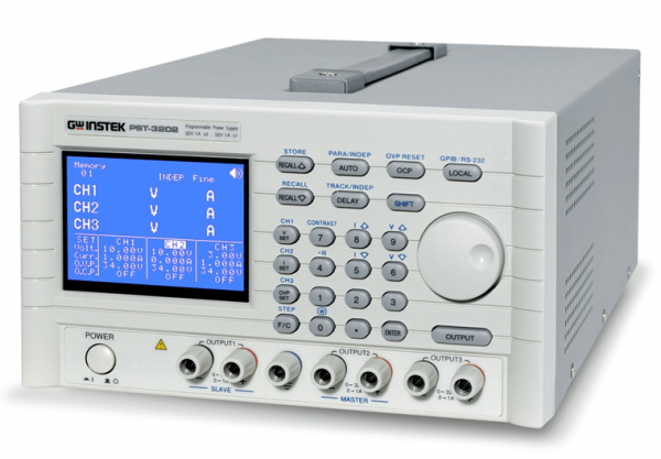 GW Instek: GW-PST-3202: Power Supply DC - Programmable - 3 Channel - Linear - 2x (32V / 2A) + 1x (6V