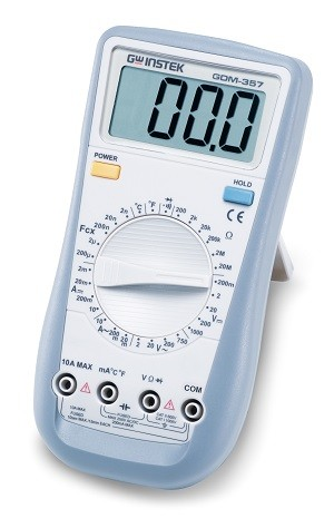 GW Instek GW-GDM-357: Hand-Held Digital Multimeter - 3 1/2 (1,999 Counts)