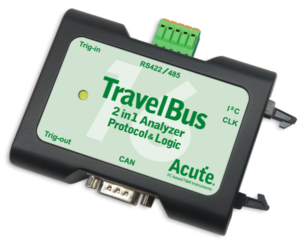 Acute: AE-TB1016B: TravelBus: 2 in 1 Analyzer (Protocol & Logic) - 200 MHz - 25 Channels - Advanced