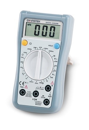 GW Instek GW-GDM-350B: Hand-Held Digital Multimeter - 3 ½ (1,999 Counts)