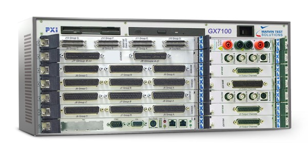 Marvin Test Solutions: MV-GX7110B: 6U/3U, 14 Slot Smart PXI Slave Desktop Combo Chassis for Use with