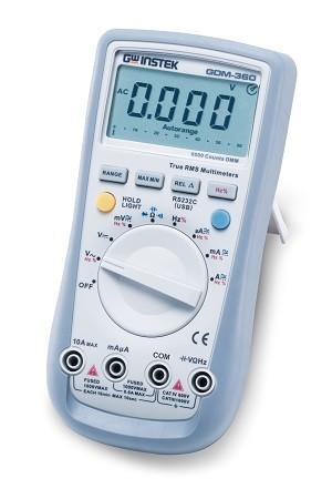 GW Instek GW-GDM-360: Hand-Held Digital Multimeter - 6,000 Counts - True RMS Measurement - RS-232C I