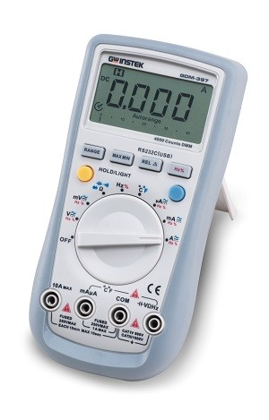 GW Instek GW-GDM-397: Hand-Held Digital Multimeter - 3 3/4 (4,000 Counts) - RS-232C Interface