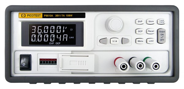 Picotest PT-P9610A : Power Supply - DC - Programmable - 1 Channel - Mixed Mode - Low Noise - (36V/7A