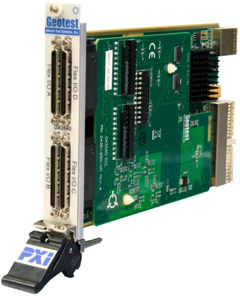 Marvin Test Solutions: MV-GX3640: FPGA PXI Card with 40 Channel ECL Buffer Module