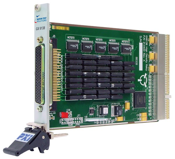 Marvin Test Solutions: MV-GX6138: 3U High Density Switching PXI Card with 38 Channel Form-A Relays