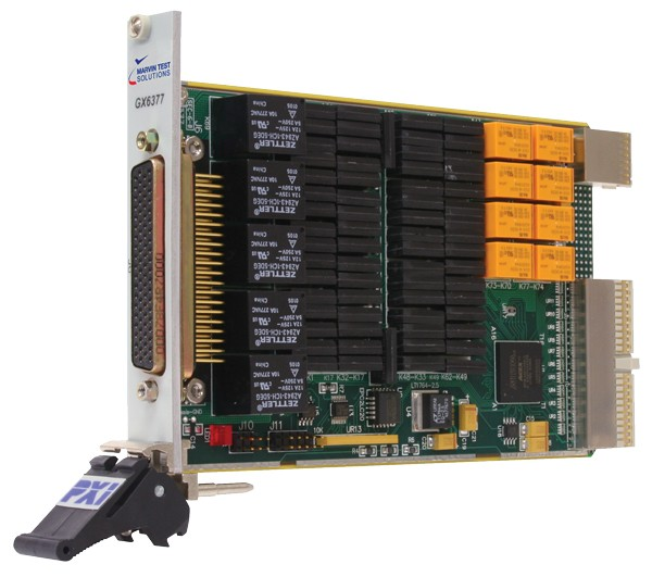 Marvin Test Solutions: MV-GX6377: PXI Multifunction Switch Card. 5 Channels 10A, 8 Channels 2A, Two