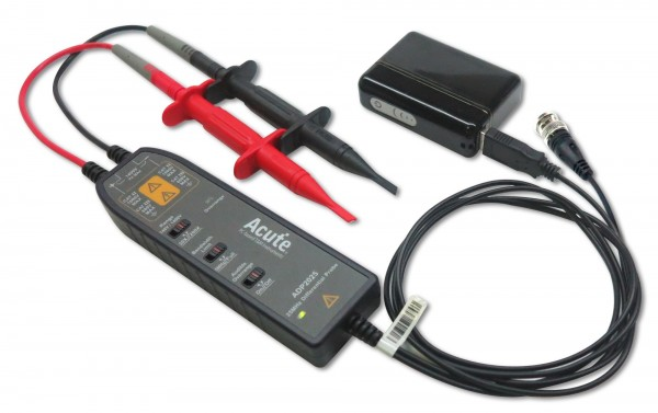 Acute AE-ADP1025 Differential Probe: USB - Voltage 700V (DC+pk AC) - Attenuation 10X/100X - CAT II 6