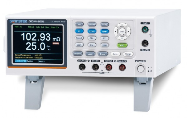GW Instek GW-GOM-804GP: Milli-Ohm Meter - 50,000 Counts - Programmable - DC - with GPIB Interface
