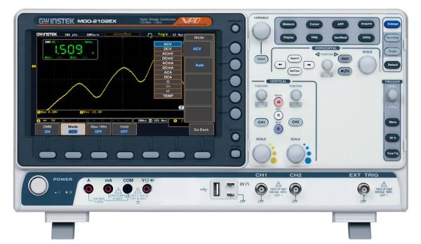 GW-MDO-2102EX Mixed Domain Oscilloscope