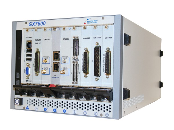 Marvin Test Solutions: MV-GX7600: 9 Slot Smart 3U PXI Express Master Chassis w/DVD-RW & Hard Disk Dr