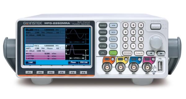 GW Instek: GW-MFG-2260MRA: Multi-Kanal-Funktionsgenerator – 5 simultane Kanäle - 2 äquivalente