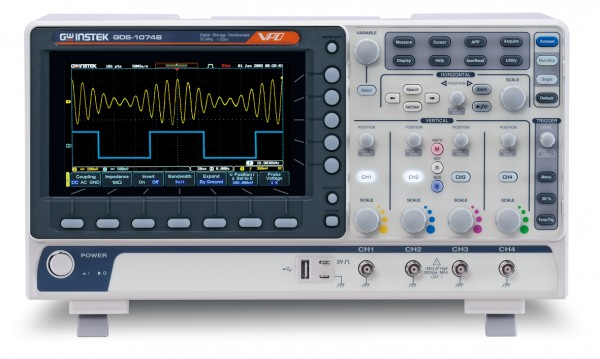 GwInstek GW-GDS-1074B: Digital Storage Oscilloscope - 70 MHz - 4 Channels - 1 GSa/s - 10 Mpoints Mem