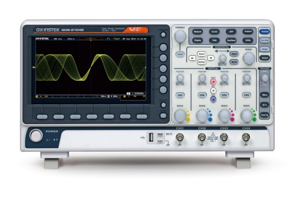 GW Instek GW-GDS-2204E: Digital Storage Oscilloscope - 200 MHz - 4 Channels - max. 1 GSa/s - 10 Mpoi