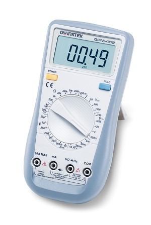 GW Instek GW-GDM-452: Hand-Held Digital Multimeter - 4 1/2 (19,999 Counts)