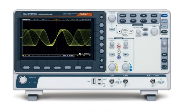 GW Instek GW-GDS-2072E: Digital Storage Oscilloscope - 70 MHz - 2 Channels - 1 GSa/s per Ch. - 10 Mp