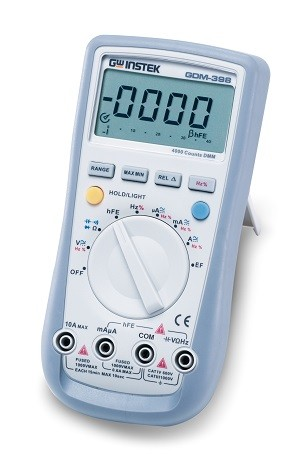 GW Instek GW-GDM-398: Hand-Held Digital Multimeter - 3 3/4 (4,000 Counts)