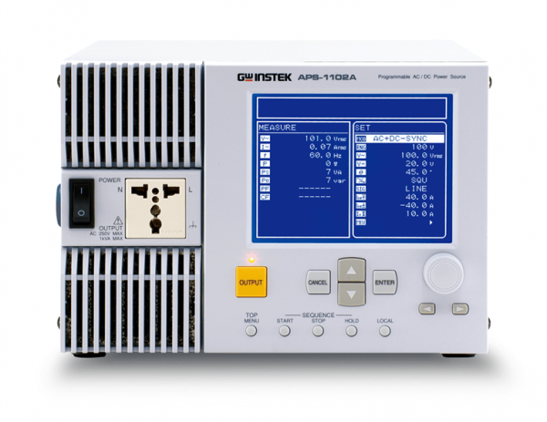 GW Instek GW-APS-1102A: AC/DC Stromquelle - Programmierbar - 270 VAC - +/- 380 VDC - 5 A - 1kVA