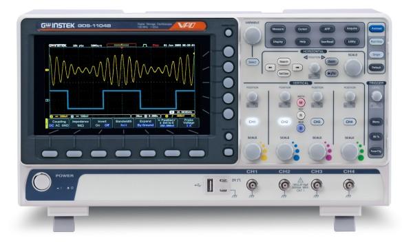 GW Instek GW-GDS-1104B: Digital Storage Oscilloscope - 100 MHz - 4 Channels - 1 GSa/s - 10 Mpoints M