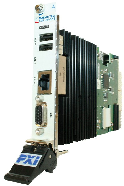 Marvin Test Solutions: MV-GX7944-2162048: 3U PXIe Single-Slot controller, 2.16GHz Core2Duo, 2GB RAM,