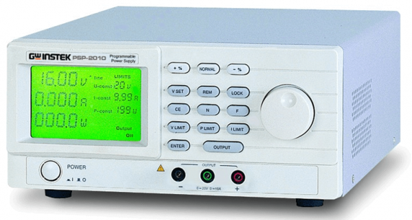 GW Instek: GW-PSP-603: Power Supply - DC- Programmable - Switching - 0~60V/0~3.5A - 200W