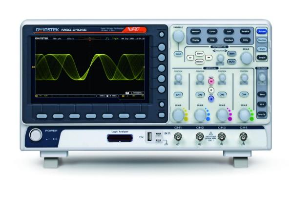 GW Instek GW-MSO-2104E: Mixed Signal Oscilloscope - 100MHz - 4 Channels - 1GSa/s - 10M Memory - 120,