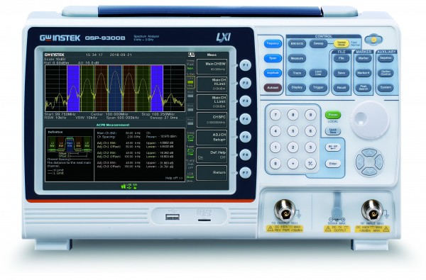 GW Instek GW-GSP-9300B-TG: Spectrum Analyzer - 9 kHz / 3 GHz - Tracking Generator - Low Cost - High