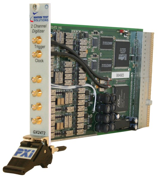 Marvin Test Solutions: MV-GX2472: Dual Channel Digitizer PXI Card, Differential Inputs, 14-bit, 70MS