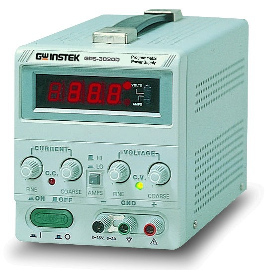 GwInstek, Single output, linear DC Power Supply, 90W, 0-18V, 0-5A