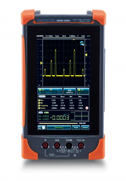 GwInstek GW-GDS-320: Compact Digital Touch Panel Scope & DMM - 200 MHz - 2 Channels - 1 GSa/s - 5 Mp
