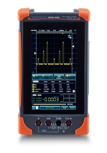 GwInstek GW-GDS-320: Compact Digital Touch Panel Scope & DMM - 200 MHz - 2 Channels - 1 GSa/s - 5 Mp